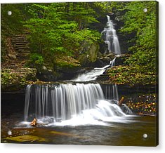 Ozone Falls Acrylic Print by Frozen in Time Fine Art Photography