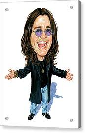 Ozzy Osbourne Acrylic Print by Art
