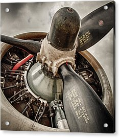 P-17 Prop Acrylic Print by Mike Burgquist