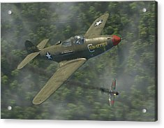 P-39 Airacobra Vs. Zero Acrylic Print by Robert Perry