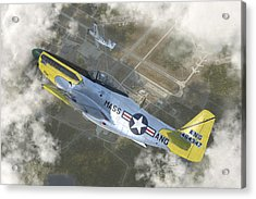 P-51 H Acrylic Print by Robert Perry
