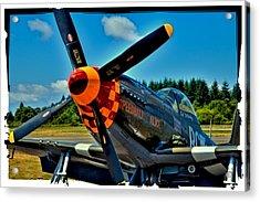 P-51 Mustang Acrylic Print by David Patterson