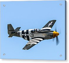 P-51 Mustang Fighter Acrylic Print by Puget  Exposure