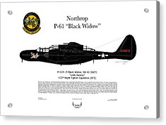 P-61b Black Widow Acrylic Print by Arthur Eggers