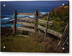 Pacific Coast Fence Acrylic Print by Garry Gay