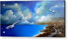 Landscapes Acrylic Print featuring the painting Pacific Highway 1 by Susi Galloway