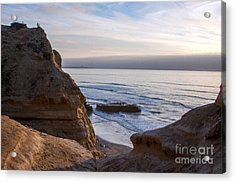 Pacific Ocean View From Above Cliffs Acrylic Print by Darleen Stry