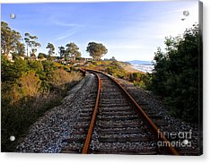 Pacific Rail Acrylic Print by Shannan Peters