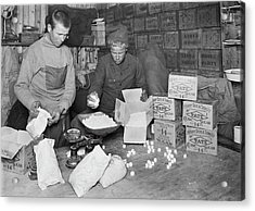 Packing Antarctic Sledging Rations Acrylic Print by Scott Polar Research Institute