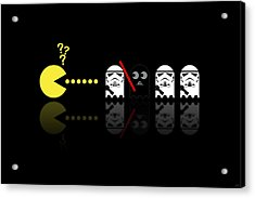 Pacman Star Wars - 1 Acrylic Print by NicoWriter