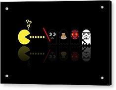 Pacman Star Wars - 2 Acrylic Print by NicoWriter