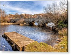 Padarn Bridge Acrylic Print by Adrian Evans