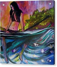 Paddle Love Acrylic Print by Kimberly Dawn Clayton