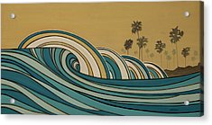 Paddle Out Acrylic Print by Joe Vickers