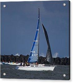 Paddling And Sailing Acrylic Print by Bonita Hensley
