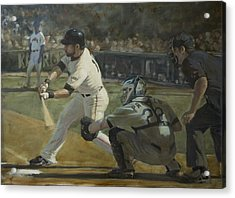 Pagan Leadoff Triple Acrylic Print by Darren Kerr