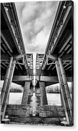 Page Bridge Geometry Acrylic Print by Bill Tiepelman