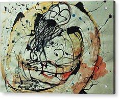 Pain Erupts Everywhere Original Acrylic Print by Mark M  Mellon
