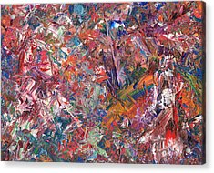 Paint Number 50 Acrylic Print by James W Johnson