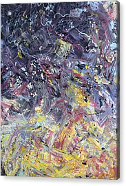 Paint Number 55 Acrylic Print by James W Johnson