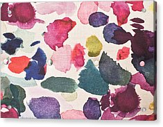 Paint Stains Acrylic Print by Tom Gowanlock