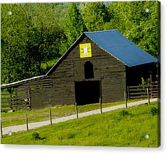 Painted Barn Quilt Two Acrylic Print by Robert J Andler