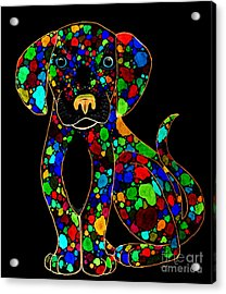 Painted Black Dog Acrylic Print by Nick Gustafson