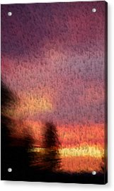 Painted Evening Acrylic Print by Kevin Bone