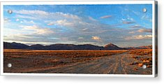 Painted Golden Sunset Acrylic Print by Glenn McCarthy Art and Photography