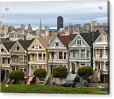 Painted Ladies Acrylic Print by Alison Miles