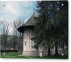 Painted Monastery Acrylic Print by Jeff Kolker
