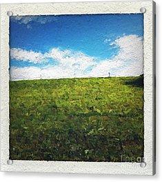 Painted Sky Acrylic Print by Linda Woods
