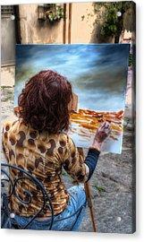 Painter To The Canvas Acrylic Print by Leonardo Marangi