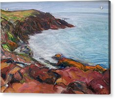 Painterly - Bold Seascape Acrylic Print by Quin Sweetman