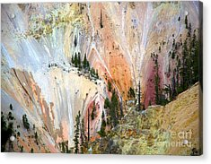 Painter's Point Yellowstone  Acrylic Print by Terry Horstman