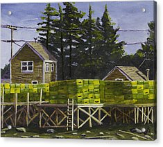 Lobster Traps In Port Clyde Maine Acrylic Print by Keith Webber Jr