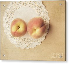 Pair Of Peaches Acrylic Print by Jillian Audrey Photography