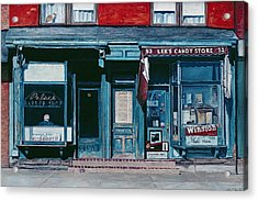 Palace Barber Shop And Lees Candy Store Acrylic Print by Anthony Butera
