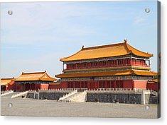 Palace Forbidden City In Beijing Acrylic Print by Thanapol Kuptanisakorn