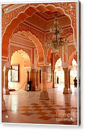 Palace In Jaipur Acrylic Print by Sophie Vigneault