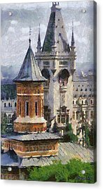 Palace Of Culture Acrylic Print by Jeff Kolker
