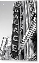 Palace Theater - Los Angeles - Black And White Acrylic Print by Gregory Dyer
