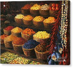 Palette Of The Orient Acrylic Print by Kiril Stanchev