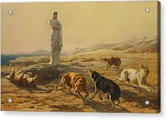 Pallas Athena And The Herdsmans Dogs Acrylic Print by Briton Riviere