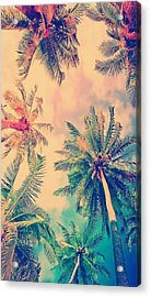 Palm Trees Case Acrylic Print by Shop Caribbean
