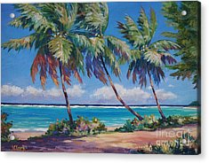 Palms At The Island's End Acrylic Print by John Clark