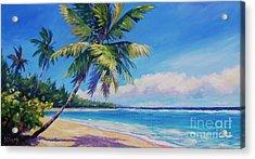 Palms On Tortola Acrylic Print by John Clark