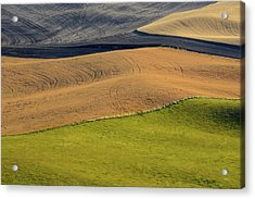 Palouse Abstract Acrylic Print by Latah Trail Foundation