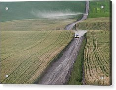 Palouse Dust Trail Acrylic Print by Latah Trail Foundation