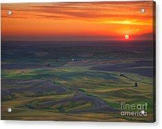 Palouse Sunset Acrylic Print by Mike  Dawson